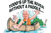 Todd's up the river without a paddle