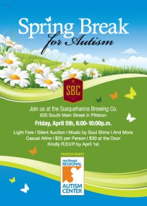 Invitation to the 2013 Spring Break for Autism Fundraiser