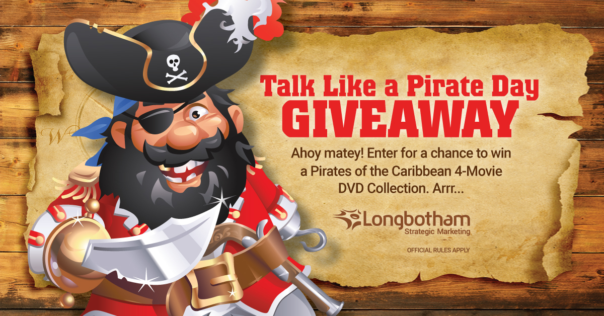 Talk Like a Pirate Day Giveaway